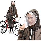 レインコート レディース 自転車 バイク 2020進化版Flagicon 魔法レインコート レインウェア ロングレインポンチョ おしゃれ 雨具 厚手 軽量 通勤 通学 男女兼用
