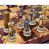 Medieval Times Crusades Arabian vs Christian Chess Set W/ 18