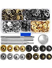 69 Sets Stud Buttons Snap Button Fastener Kit Tool Press Studs Fastener Fixing Tool