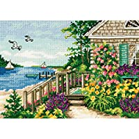 "Gold Petites Bayside Cottage Counted Cross Stitch Kit-7""x5"" 18 Count (並行輸入品)"