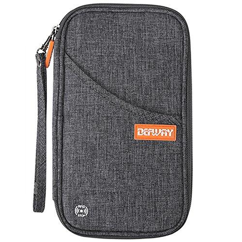 Defway パスポートケース スキミング防止 パスポートポー...