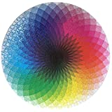 Aideal 1000 Pieces Round Jigsaw, Creative Rainbow Palette Jigsaw Puzzle Educational Intellectual Game Stress Reliever Toy for adults and children