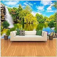 """3D壁の壁画の壁紙-壁の中国の風景-自然の風景の滝-カスタム3D写真の壁紙-寝具の壁の装飾-300(W)x200cm(H)(9'2""""x5'11"""")ft"""
