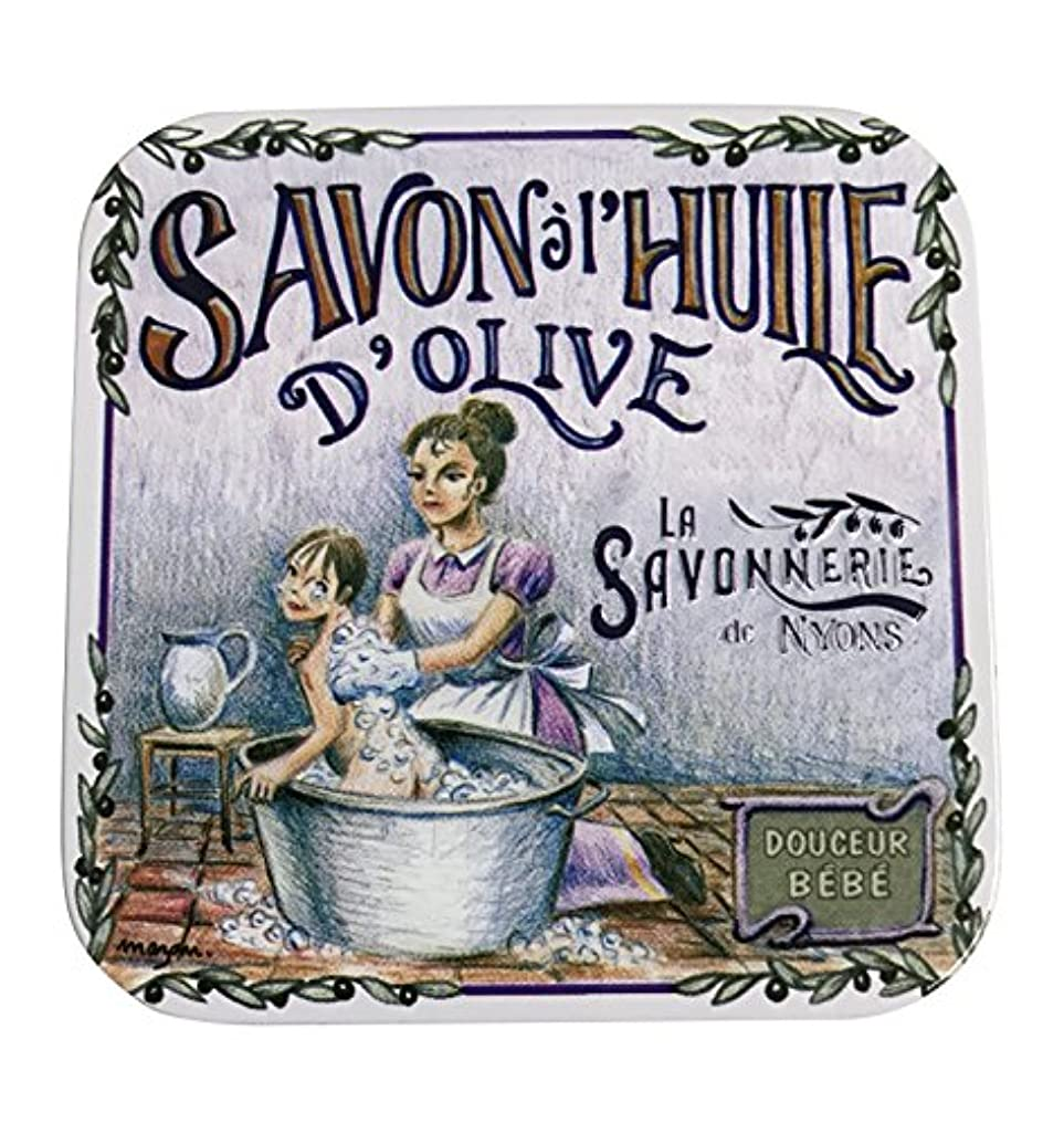 テロマトン口実ラ?サボネリー アンティーク缶入り石鹸 タイプ100 ハウスワイフ(ローズ)