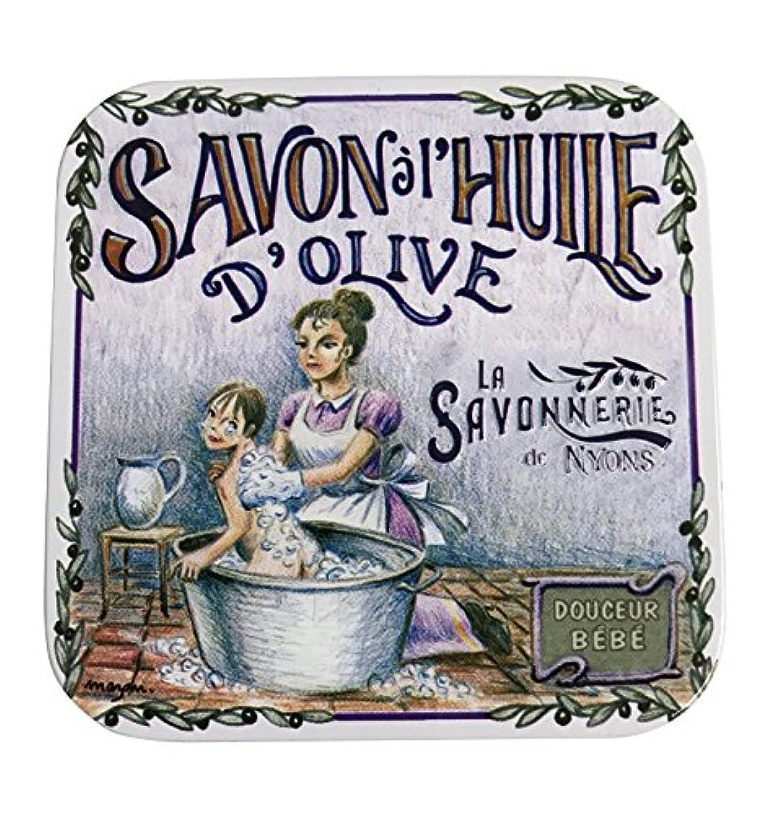 溝ポールさびたラ?サボネリー アンティーク缶入り石鹸 タイプ100 ハウスワイフ(ローズ)