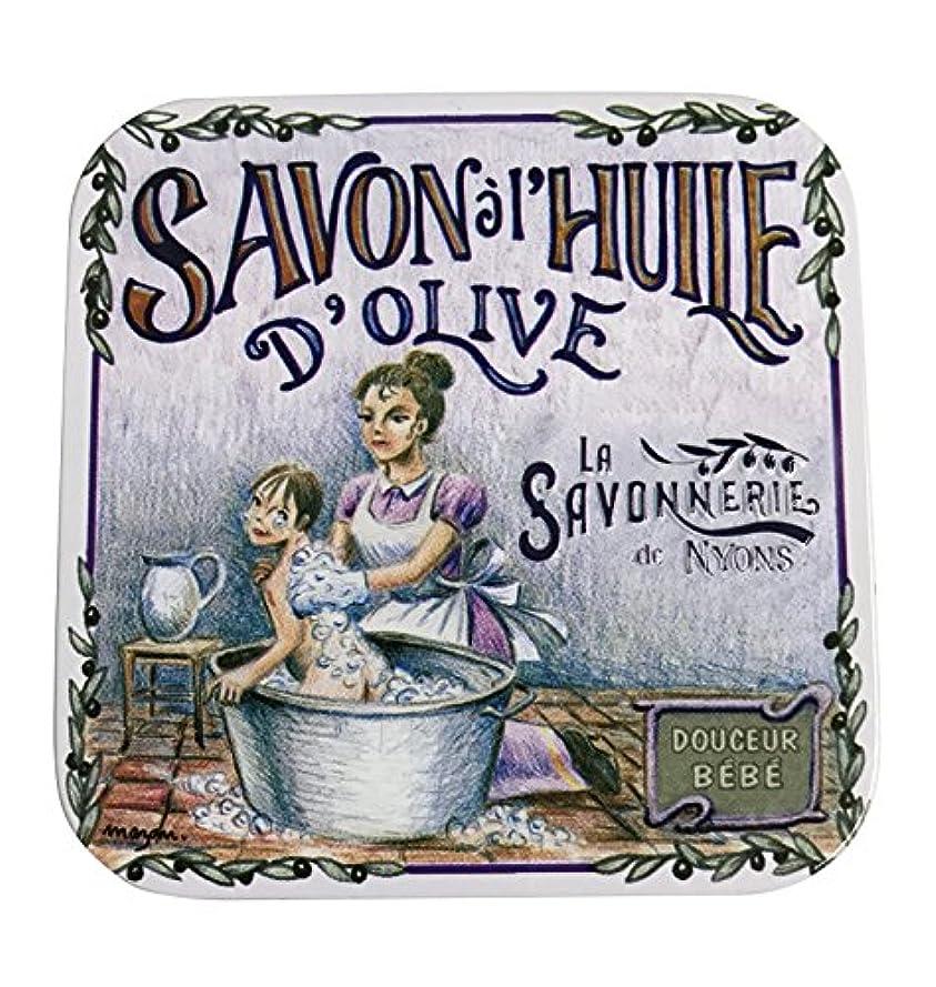 広々とした療法かすれたラ?サボネリー アンティーク缶入り石鹸 タイプ100 ハウスワイフ(ローズ)