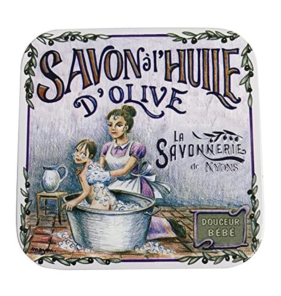 呼吸する足不良ラ?サボネリー アンティーク缶入り石鹸 タイプ100 ハウスワイフ(ローズ)