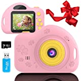 Toys for 3-6 Year Old Girls Kids Camera for Children Mini Camcorder with 1080P and 2.0 Inch IPS Screen for Preschool Todder B