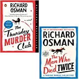 Richard Osman 2 Books Collection Set (The Thursday Murder Club, The Man Who Died Twice)