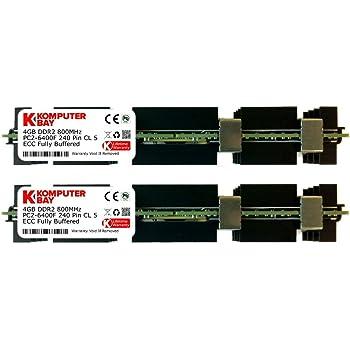 Komputerbay 8GB (2x 4GB) DDR2 PC2-6400F 800MHz ECC Fully Buffered FB-DIMM (240 ピン) 共 ヒートスプレッダ, 対して Apple コンピュータ
