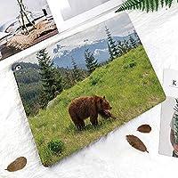 カスタム IPad 2 3 4 ケース オートスリープ機能山岳テーマの毛皮のような動物肉食動物イエローストーン自然の生息地で野生動物