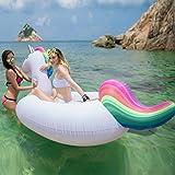 Jasonwell 浮き輪 ユニコーン 大型 フロート インスタ映えの王者ツール 大きいサイズ 快速エアバルブ 海遊び…