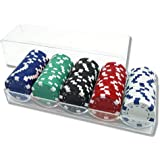 YLXポーカーチップ ゲーム用 本格カジノ 本格的な重量感 100枚セット 盛り上がる 得点管理が容易 高級感 ルーレット/バカラ/ブラックジャック プロ仕様 5色(各色20枚, 14g ,計100枚セット)専用ケース付き