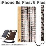Simplism iPhone 6 Plus/6s Plus [FlipNote] フリップノートケース グレンチェック TR-FNFIP155-GLC