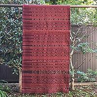 イカット レンバタ島 インドネシアの本物 アンティーク 絣織物 型番18