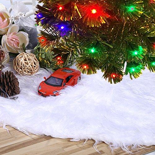 RoomClip商品情報 - クリスマスツリースカート クリスマス飾り ツリースカート ホワイト クリスマスパーティー オーナメント 雰囲気 (白色)