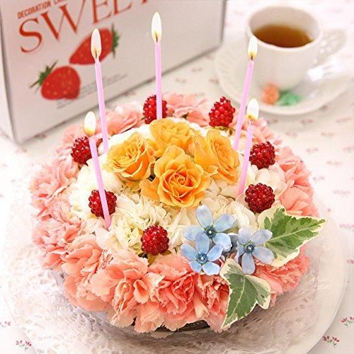 BunBunBee フラワーケーキ「オレンジクリーム」(生花アレンジメント)