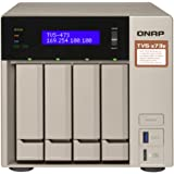 QNAP TVS-473e-8G-US 4-bay NAS/iSCSI IP-SAN, AMD R series Quad-core 2.1GHz, 8GB RAM, 10G-ready, 4 Bay, 8GB, With HDMI, AMD