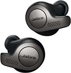 Jabra 100-99000000-40 Elite 65t Earbuds - Passive Noise Cancelling Bluetooth Earphones with Four-Microphone Technology for Tr