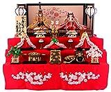 雛人形 リカちゃん 久月 ひな人形 収納飾り 三段飾り 五人飾り 桐製 シリアル付 h303-ri-2767