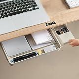 Desk Drawer Organizer-Under Desk Drawer for File /Paper/Pencils/iPad Etc