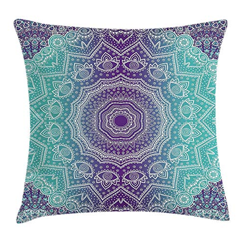Purple and Turquoise Pillow ca...