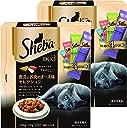 シーバ (Sheba) デュオ 成猫用 魚介とお肉のチーズ味セレクション 240g(20g×12袋入り)×2個セット キャットフード ドライ