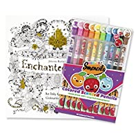 Enchanted Forest Colouring Book w/ 10-Pack of Scented Coloured Pencils
