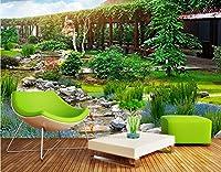 Yosot ガーデンパークの3D風景の壁の壁の背景絵画のカスタム大きな壁紙-140cmx100cm
