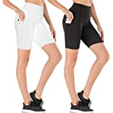 yeuG High Waisted Leggings for Women - Soft Athletic Tummy Control Pants for Running Cycling Yoga Workout - Reg & Plus Size