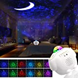 Star Night Light Projector Bedroom,3 in 1 Galaxy Projector Light LED Nebula Cloud Light with Moon Star & Voice Control As a G