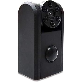 Hanwha 超小型 隠しカメラ 赤外線 防犯カメラ 監視カメラ 高画質 SDカード録画 人体検知センサー搭載 [バッテリー内蔵][長時間録画][充電式][配線不要][夜間撮影][人感センサー][常時録画対応][スパイカメラ][録音][盗撮厳禁] DVR-M1