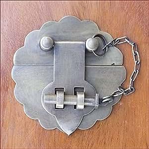 MANJA MTMET-098 真鍮 金具 金物 取っ手 ドアノブ つまみ ハンドル 閂 かんぬき アンティーク レトロ調 ナチュラル
