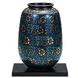 九谷焼 陶器 花瓶 青粒 AK5-1274