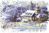 Traditional Boxed Christmas Cards ~ Set of 16 Cards and Envelopes (Merry Christmas - Christmas Greetings and good wishes for the New Year) by Christmas House