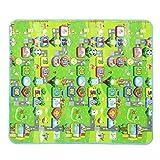 クリスマスプレゼント ICOCO クロールマット ベビー プレイマット ピクニックマット フロアマット アルファベット ベビークロールマット キッズマット 遊びマット 知育マット 出産祝い プレイマット アルファ+モノポリー 200*180CM