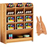 Marbrasse Wooden Desk Organizer, Multi-Functional DIY Pen Holder Box, Desktop Stationary, Home Office Supply Storage Rack wit