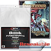 """( 1000) BCW Book Sleeves–ポリプロピレン–with Resealableフラップ- 10"""" x 13"""" with a 2–1/ 2""""フラップ–bcw-rbb"""