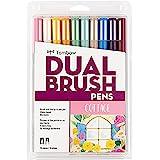 Tombow Dual Brush Pen Cottage Marker, 10 Piece