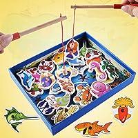 教育玩具 – coerni 32個木製磁気釣りおもちゃセット