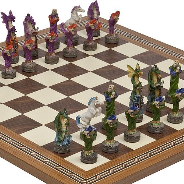 ファンタジーChessmen & Fulton Streetチェスボードfrom Spain。