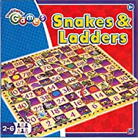 GBP INTERNATIONAL Snakes And Ladders Traditional Games Have Fun With This Classic Board Games And Dice Games - Kids