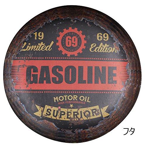 取っ手付き アメリカン ヴィンテージ風  PVCペール缶 Sサイズ MJT119-022 -