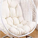 Swing Hammock Egg Chair Cushion Without Stand, Cotton Pads Removable Seat Cushions with Pillow, Overstuffed Hanging Baskets R