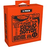 Ernie Ball P03215 Skinny Top Heavy Bottom Slinky Nickel Wound Electric Guitar Strings 3 Piece Pack, 10-52 Gauge