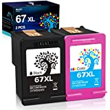 H&BO TOPMAE Remanufactured Ink Cartridge Replacement for HP 67 67XL Ink Cartridge 3YM57AN 3YM58AN for DeskJet 2755 1255,Envy