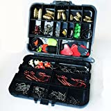 Lowmany 磯釣り海釣り道具セット 20種類128件セットケース付き(12.2*10.5*3.4cm)