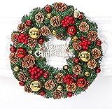 (エスプラスインポート)S.Plus Import クリスマス リース まつぼっくり オーナメント おしゃれ かわいい 玄関 部屋 ワンカラー 40cm