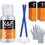 K&F Concept クリーニングキット3点セット メンテナンス用品 フルサイズセンサースワブ+手袋+ボトル(空き瓶) カメラ初心者向け お手入れ 掃除用品 一眼レフカメラレンズ対応