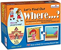 StonKraft Preschool Learning Toys - Let's Find Out - Where. Educational Toys Learning Games Matching Games for Kids & Toddlers